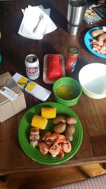 AND...last but not least, a big, warm THANK YOU to my daddio for cooking me a shrimp boil for my birthday lunch! It was absolutely delicious <3