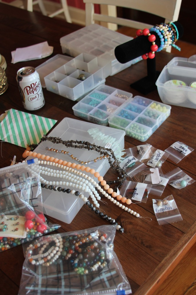 In my spare time this week, I have been cranking out one-of-a-kind bracelets + shopping for unique beads locally at Gems & Whims. AH--Gems & Whims is seriously a beaded dream...I was so overwhelmed with the options, and I cannot wait to go back soon to stock up on some more fun stuff *wink*