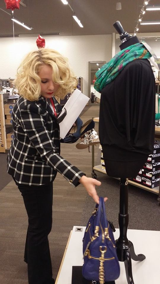 Styling outfits for the grand opening of DSW in Birmingham, Alabama with B-Metro Magazine.