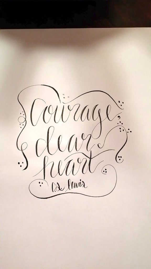 Day 4--I quite like the way this doodle worked out! Such a simple quote with great meaning! Still have a little work to do on my writing though *wink*