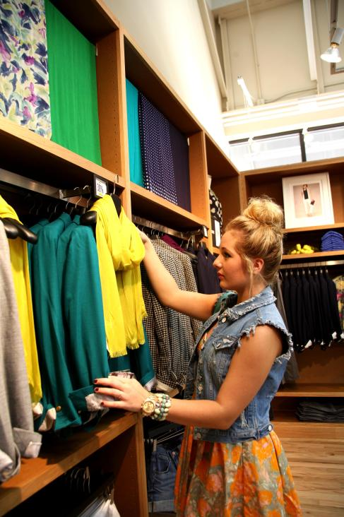 Styling outfits for the Outlet Shops of Grand River Grand Haul video series at J.Crew.