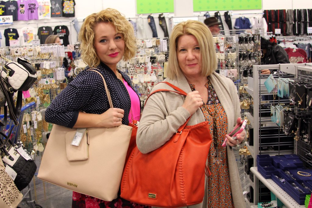 The VIP and her fabulous mom shopping at the grand opening.