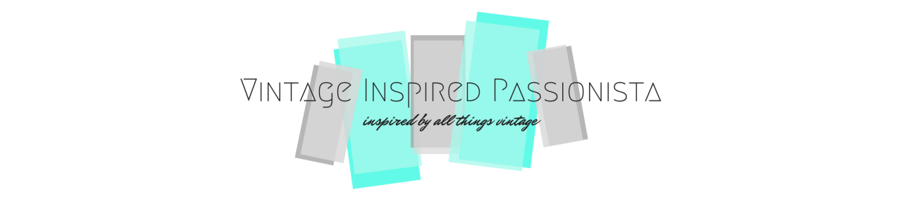 New logo for Vintage Inspired Passionista designed by yours truly based on 1950s advertisements and modern design.