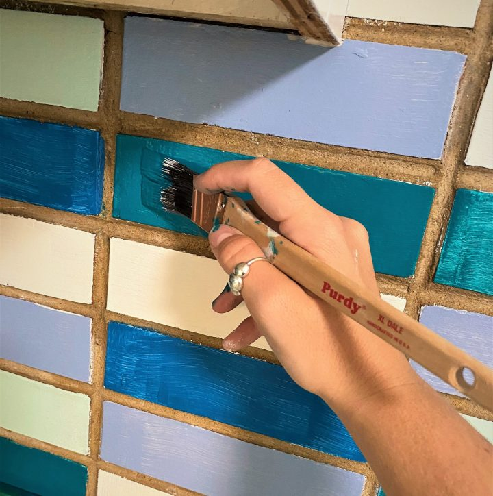 How to Redo an Old Brick Backsplash (Without Tearing It Out)